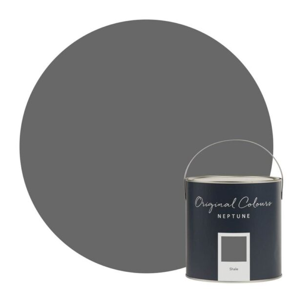 Neptune Shale Paint - One of our darker grey shades, Shale's inspired by the pebbles you find on shingle beaches. It's one for people who like rooms to have a bit of drama, but it's got a soft smokiness, so it's easy to live with. Try pairing it with one of our warmer neutrals like Lily or Silver Birch to add light and warmth to the room.