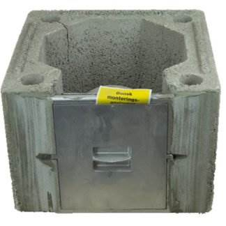 Isokern Casing with Soot Door - For DM Block Chimneys. Suitable for use in negative pressure (Dry Chimney) applications. CE Designation (T450 N1 D 3 G(00)