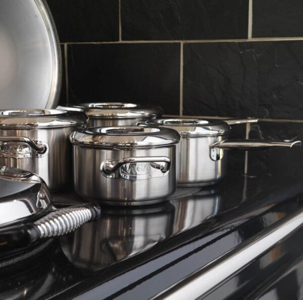 Stainless Steel Casserole Set - Swiss-made AGA stainless steel cookware has not only been designed to create perfect dishes every time but to also retain it's stylish appearence for years to come.