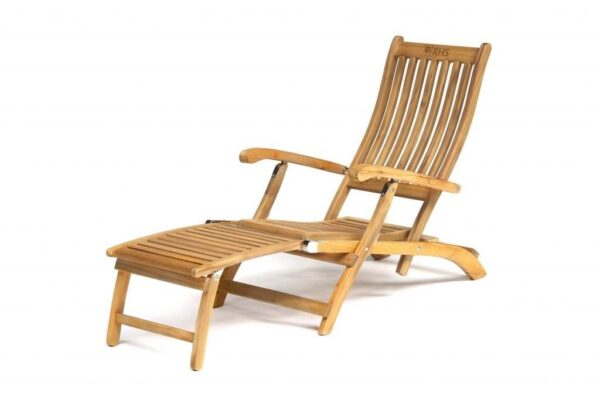 RHS Steamer Chair - The luxurious RHS Chelsea range is made from natural eucalyptus wood with a hand coated teak oil finish. Traditional in style, the RHS Chelsea seating is made for garden lovers. Expect high-quality in every little detail.