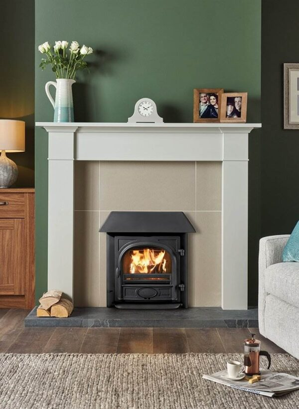 """Stovax Stockton Milner - The Stovax Stockton Milner Inset wood burning and multi-fuel stove has been specifically designed to fit into a 16""""- 18"""" wide and 20""""- 22"""" high fireplace without the Milner brick needing to be removed."""