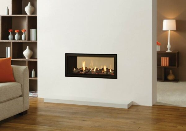 Gazco Studio 2 Duplex - One of the latest exciting additions to the Gazco Studio gas fires range is the Studio 2 Duplex – offering unrivalled flame pictures in two rooms at once! Available in the Studio 2 size, this dual space gas fire is a much desired solution in having the best of both worlds. With a wealth of frame options to choose from, the Studio 2 Duplex gas fire can be styled completely independently on either side to maximise the potential of your own decorative tastes.