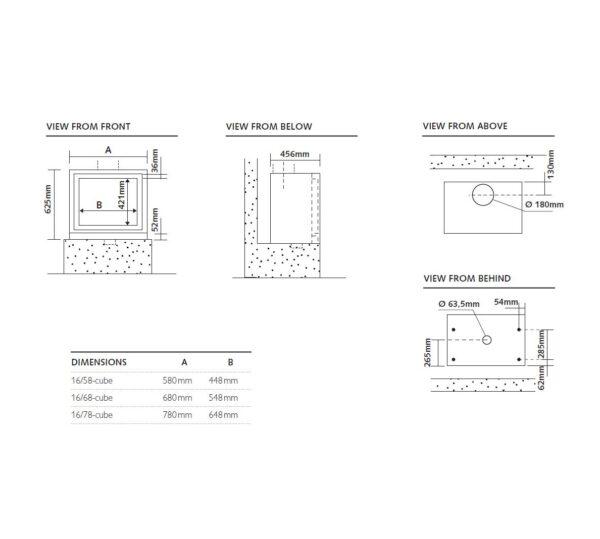 Stuv Cube 1658 dimensions