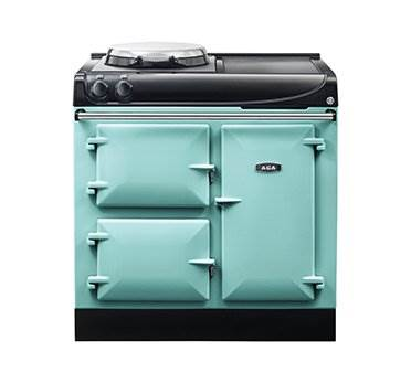 """AGA eR3 90-3 Electric - The new electric AGA eR3 90-3 offers everyday control and boasts a host of useful features, including a patented hotplate, fast heat-up times, a defrost function, an optional timer and higher temperatures and better performance than many other range cookers on the market. Great attention has been paid to even the smallest of details, such as the stylish and branded handrail, ensuring this is a cooker that is built for life.  Click <a href=""""/events/"""">here</a> for a list of upcoming cooking demonstrations"""