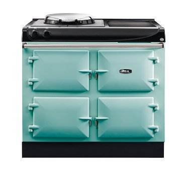 """AGA eR3 100-4 Electric - The new AGA eR3 100-4 offers everyday control and boasts a host of useful features, including a patented hotplate, an optional timer and higher temperatures and better performance than many other range cooker on the market. Great attention has been paid to even the smallest of details, such as the stylish and branded handrail, ensuring this is a cooker that is built for life. Click <a href=""""/events/"""">here</a> for a list of upcoming cooking demonstrations"""