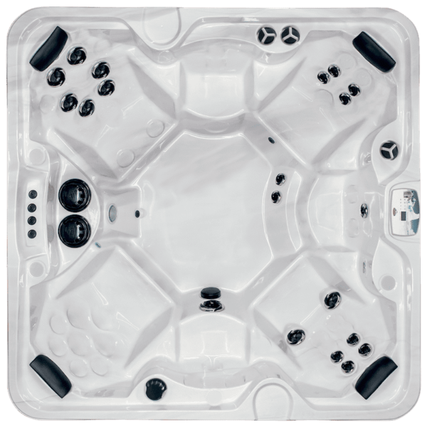 Arctic Spas McKinley Hot Tub - Four corner captain's seats anchor a total of seven seating positions, which surrounds a huge foot well area. Built for a crowd, but still offering creature comforts for the individual, the McKinley is the perfect choice for a large family or frequent entertaining.