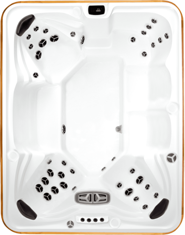 Arctic Spa Summit XL - The Summit might be the perfect family spa. This spa features three different depth Shuttle Seats for varied body types ensuring you will find both amazing comfort and depth. Multi level armrests and a swivel/lounge seat offer great variety in what has always been our most popular model.