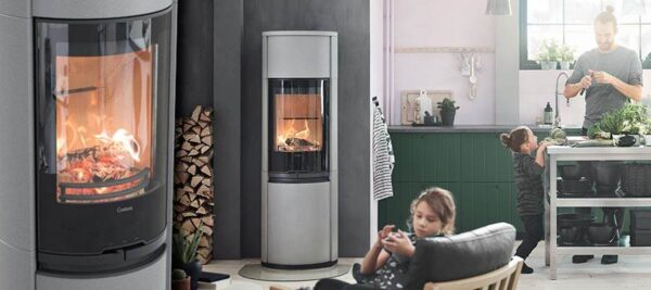 Contura 690AG Style - A larger stove has a greater output, that it gives off more heat than a smaller one. There are also good ways of getting even more heat out of your stove. Contura 690AG Natural Style can be combined with heat retaining powerstone. Artstone is a natural grey, velvet ground cast stone, unique to Contura. This gives the stove a modern, powerful look.