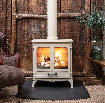Charnwood Island II - The All New Island II is one of our latest additions to the Island range. This redesign of our classic twin door stove has a larger picture window and incorporates our Blu burning technology. This stove burns with an efficiency of over 82% with extremely low smoke particle level of 14mg/m3 (the Ecodesign limit is 40mg/m3). The All New ISLAND II not only meets Defra exemption limits (allowing wood to be burnt cleanly in smoke control areas) but is a vast improvement on the new 2022 Ecodesign standards ? a stove for the future.