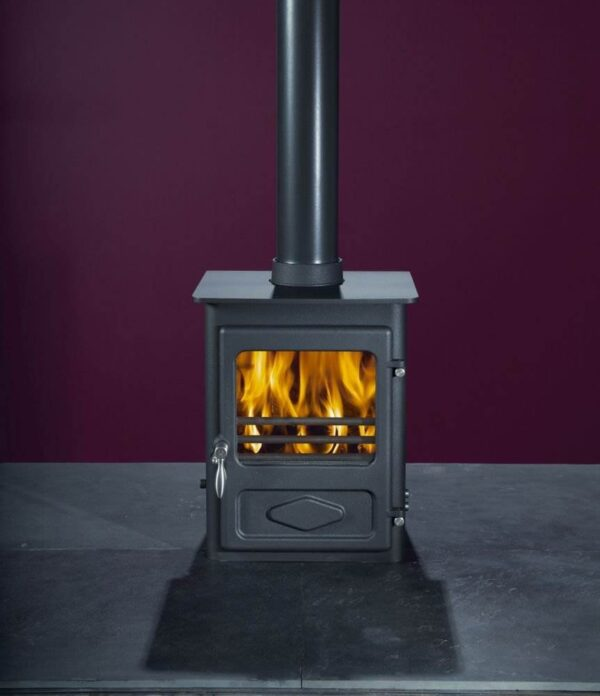 Woodwarm Foxfire 4kw - <p>This little 4kW stove has a stunning 82% efficiency. The Foxfire not only benefits from the Woodwarm cleanburn air wash system, but also features new design systems such as the stainless steel handle. The rear heat shield is fitted as standard, and there are different leg options as well as an integral log store style base. There is a smoke approved area version of the Foxfire also available.</p>