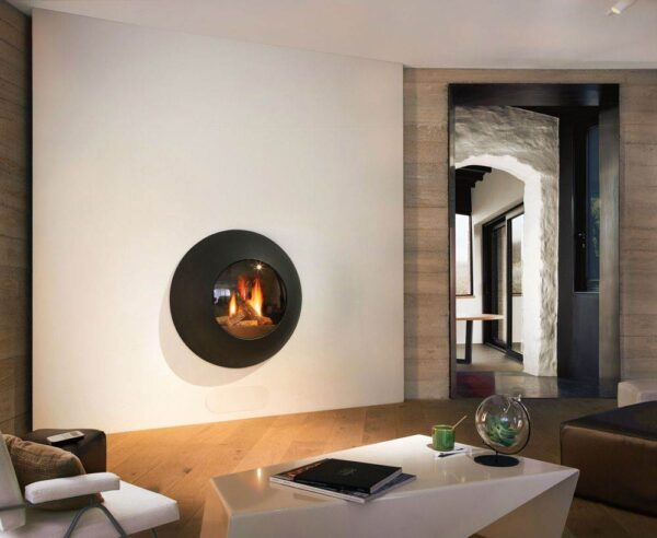 Lensfocus - The Lenfocus has a singular and nonconformist presence without being intrusive. In black, grey or white, it radiates a warm and exhilarating charm. This closed gas fire with a balanced flue is operated by remote control. It is supplied with ceramic logs and features a curved porthole.