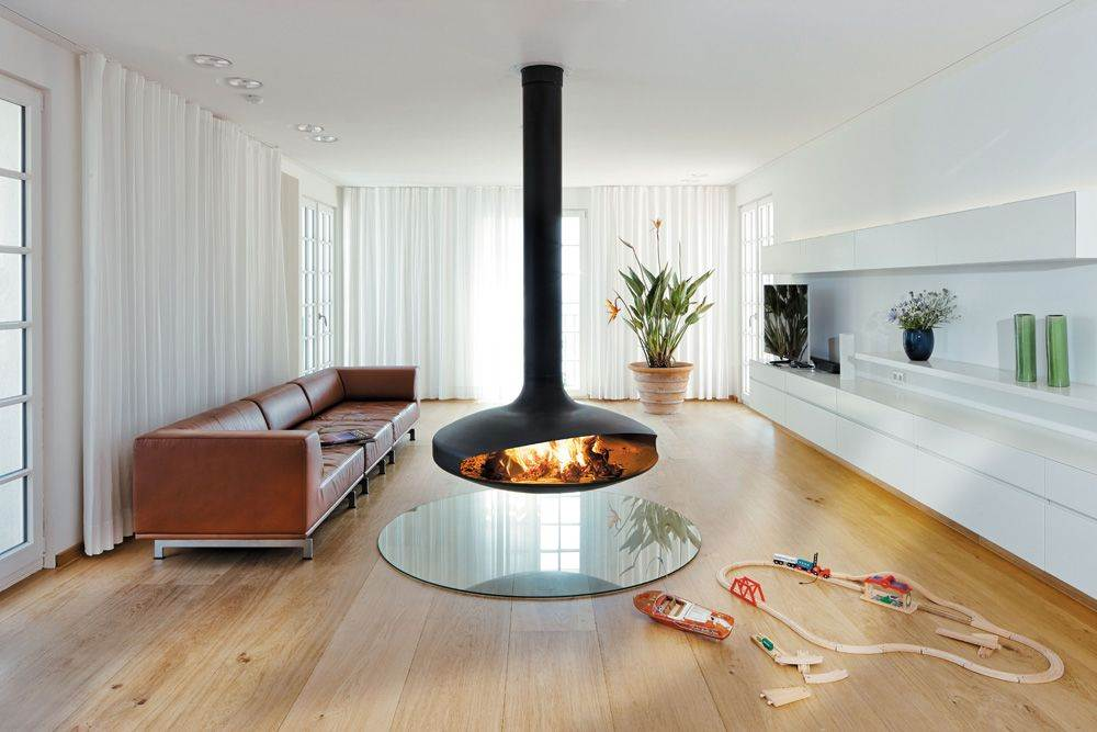 Focus Gyrofocus Suspended Rotating Fireplace