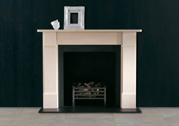 The Classic Victorian - A simple Victorian style fire surround carved in limestone. Also available to order in Carrara marble at an additional charge.