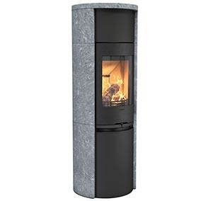 Contura 590T Style - Contura 590T Style with cast iron door is a tall soapstone stove with lots of options. Choose a stove with a Powerstone heat tank or fan for excellent heat distribution.