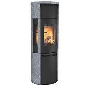 Contura 596T Style - Contura 590T Style with cast iron door is a tall soapstone stove with lots of options. Choose a stove with a Powerstone heat tank or fan for excellent heat distribution.
