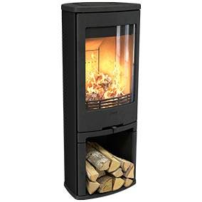 Contura 710 - The slightly angular design of the Contura 710 makes it very easy to position. The new, simple style stove without glass side panels fits neatly in a corner.