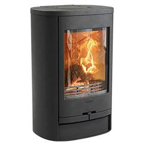Contura 810L Style - Contura 800 has taken its inspiration from the famous superellipse. The shape makes this stove compact and attractive, making it very easy to position, even in small spaces. The Contura 810L is available in black and can be topped with soapstone.