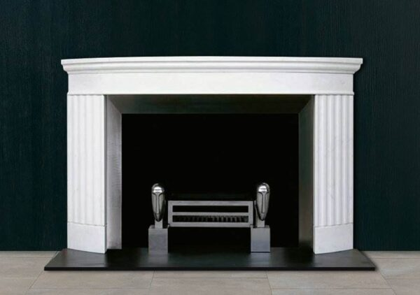 The Doric - For a modern fireplace inspired by classical architecture, The Doric is a perfect choice. Designed in collaboration with the world famous KLC School of Design, this striking white fire surround incorporates the strength and simplicity of the Doric column — a classic motif in Greek architecture. Based on the Temple of Hephaestus in Athens, this chimneypiece features a generous mantel shelf, strong proportions and sculpted column detail. Stage as an open fireplace, paired with a contemporary or period fire basket, for an interior worthy of the gods.