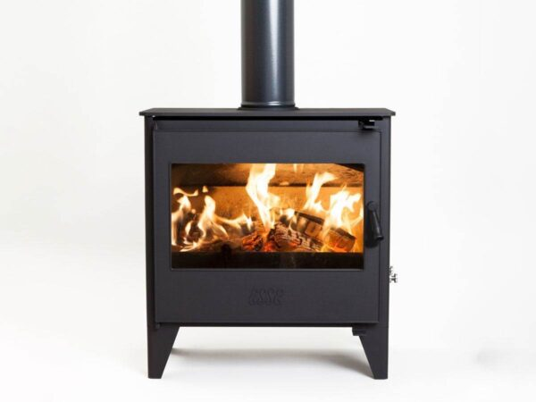 Esse 250 SE Stove - ESSE?s multi-fuel stove range has a stylish new addition. The Esse 250 SE stove features clean lines, new longer legs and an oversize clear glass window offering an enticing view of the natural flames dancing within. The 250 has an energy rating of ?A?, and ESSE?s trade-marked clean burn technology enables these models to be fired in smoke exempt zones throughout the UK. The 250 SE is economical to run and incorporates both primary and secondary air wash controls for precision adjustment of the burn rate and the ability to create beautiful flame patterns.