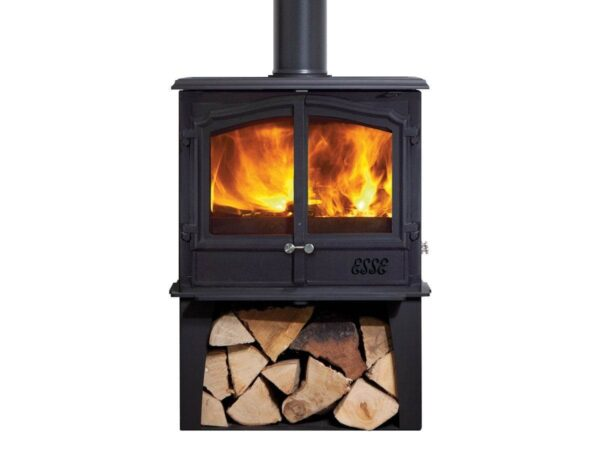 Esse 200 XK DD Stove - Are two doors better than one, when it comes to wood-burners? If you think so, and you want a beefy 7.5kW of heat output ? enough for a seriously large living space ? then the Esse 200 XK DD is the stove for you. Clean-burning and energy-efficient, this robustly engineered yet elegant stove?s traditional looks are set off by the stainless steel double button that opens and closes the doors.
