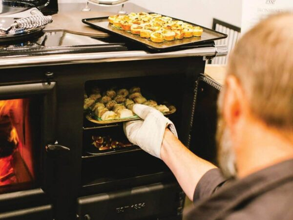 Esse Ironheart - The Ironheart may look as if it's been around for ever, but in fact it's a recent arrival – created to celebrate 150 years of ESSE. It's a stove and a range cooker in one, combining the best of our two main product ranges. Cooking and heating have never come together more beautifully.