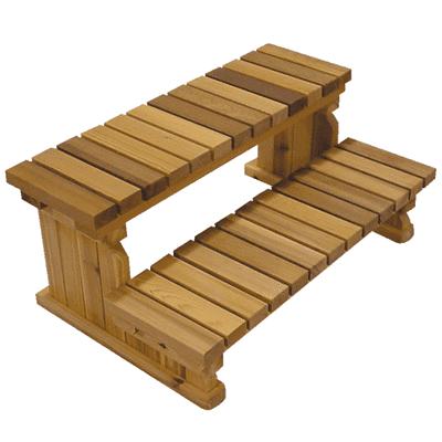 Cedar Steps 2-Tier -