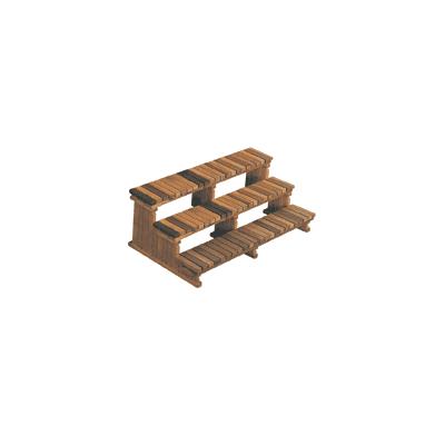 Cedar Steps 3-Tier -