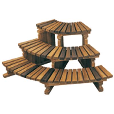 Corner Cedar Step 3-Tier -