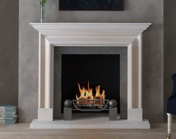 The Alderney - The Alderney is the most recent addition to our Georgian Collection. Carved in Limestone and based on a Queen Anne design, it combines a robust bolection moulding with a corniced shelf and will suit both period and a contemporary interiors.
