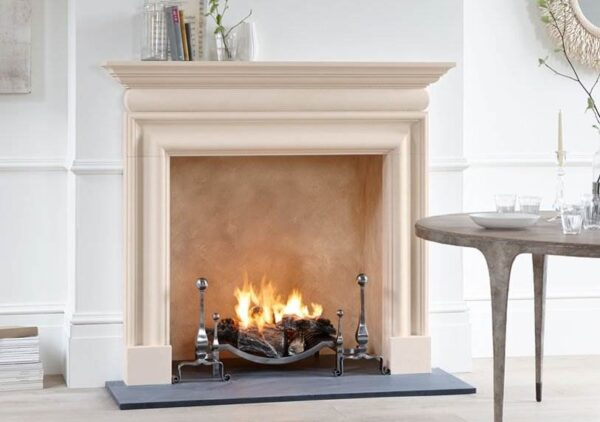The Clandon - The Clandon fireplace, carved in limestone, is based on a Queen Anne design from the beginning of the 18th century. Its simple uncluttered lines combined with generous curves make it very flexible for use anywhere.