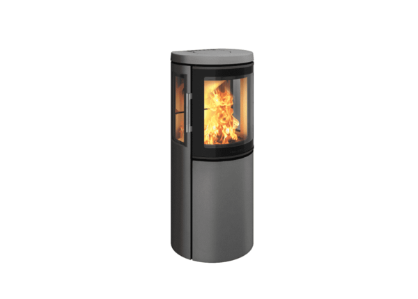 Hwam 2630 - With the HWAM 2600 series, the Danish designers Henrik Sørig and Tobias Jacobsen have created another beautiful stove series which is grand in elegance yet small in size. The airwash system keeps the glass clean and ensures that the fascinating fire can be enjoyed through the curved glass pane in the cast-iron door.