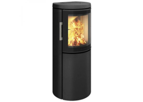 Hwam 2640 - With the HWAM 2600 series, the Danish designers Henrik Sørig and Tobias Jacobsen have created another beautiful stove series which is grand in elegance yet small in size. The airwash system keeps the glass clean and ensures that the fascinating fire can be enjoyed through the curved glass pane in the cast-iron door.