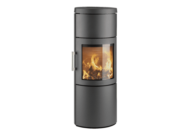 Hwam 3130 - The design of this elliptical stove series originates in pure Scandinavian lines and simple forms that make the HWAM 3100 series more than just stoves. They are also attractive items of furniture that will adorn and warm any home. Hung on the wall, it has a discreet expression and is particularly easy to clean.
