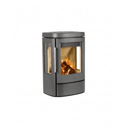 Hwam 4510 - A beautiful stove that both wall mounted and on a plinth, completing the interior design of every home.