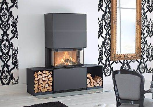 Contura i50 - Let your imagination set the limits for your fireplace and build your own surround. The large expanse of glass shows a lot of the fire. The generous glass area and our Clean Burning System means that you see the maximum amount of fire.