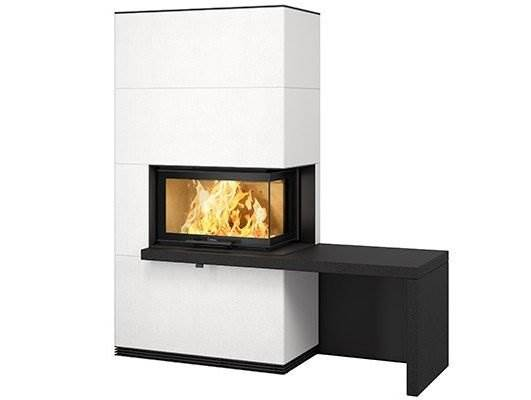 Contura i40 - Create your own fireplace with a high quality insert and generous expanse of glass. The Contura i40 fireplace insert with an angled guillotine door gives you new options to create a unique fireplace. The large expanse of angled glass shows a lot of the fire. The generous glass area and our Clean Burning System means that you see the maximum amount of fire.