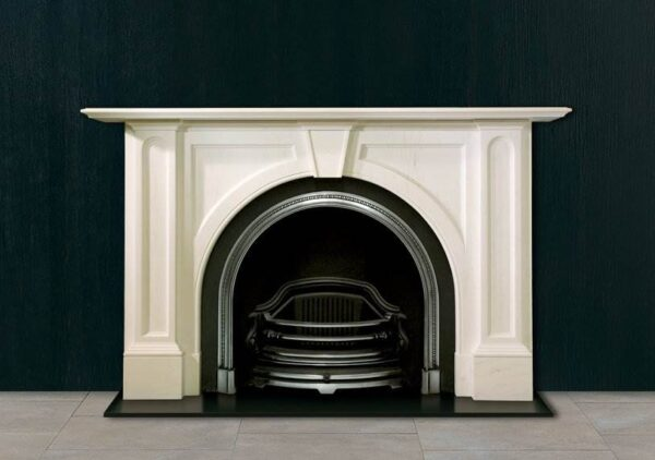 The Ladbroke - The Ladbroke is a simple yet stylised copy of an early Victorian chimneypiece in statuary marble. Its strong fielded panels in the spandrels and in the jambs is typical of the 1850 -1870 manner of the Victorian age.