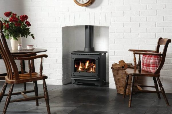 Gazco Marlborough Medium Gas - Country or city, traditional or contemporary, the innovative Gas Marlborough2 has the flexibility to suit your lifestyle and your decor. Available in two sizes, each has an expansive window area to allow you to enjoy the dancing flames and warm ambience of the log-effect fire. Operation is simple thanks to the easy ignition and manual control which lets you adjust flame height and heat output. Choose Gazco's Command upgradeable remote control and you can adjust the flames and heat from your armchair. Alternatively, opt for the Programmable upgradeable remote control to set the stove to switch itself on and off and heat the room to the temperature you select.
