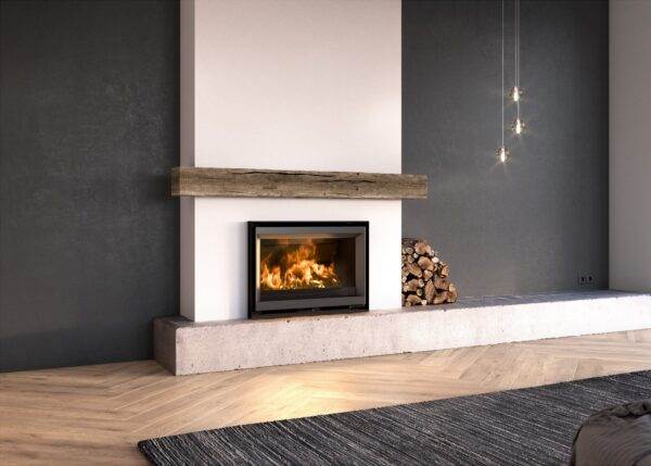Stuv 6 76x55 - Remarkable thanks to its wide view of the fire and a compact frame, the Stûv 6 wood-burning inset can easily be installed in most chimneys. To replace an older less efficient fire, or to give your hearth new life, the Stûv 6 will give you a more efficient and environmentally friendly solution. Attractive, ecological and economical, this insert, will give your home a distinctive, personal look: the essential fire.