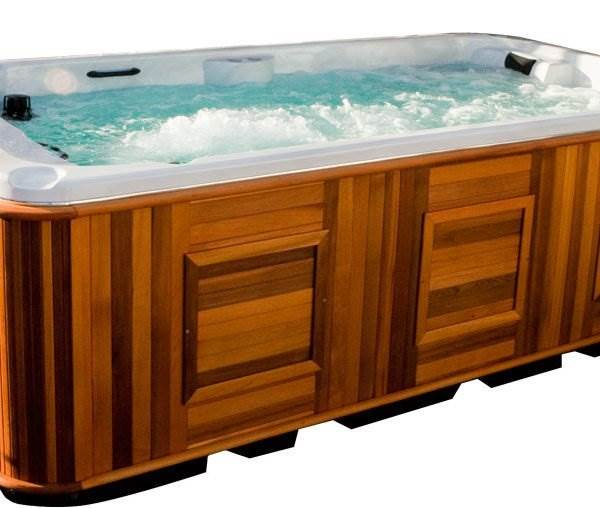 Arctic Spa Hudson - The Hudson offers an entry level resistance swim system in the form of the Monsoon Counter Current Swim System and two therapy seats. The Monsoon System can be used in conjunction with the Tether Resistance Swim System to serve multiple levels of fitness in addition to climate-defying family fun. <h3>Why buy me?</h3> <ol> <li>I am the most popular AWP for intermediate swimming.</li> <li>I provide two full body massage chairs.</li> <li>I have space for up to 14 adults to enjoy a soak.</li> <li>I provide fitness and relaxation together.</li> </ol> <strong>5 years parts & labour warranty.</strong> <hr />