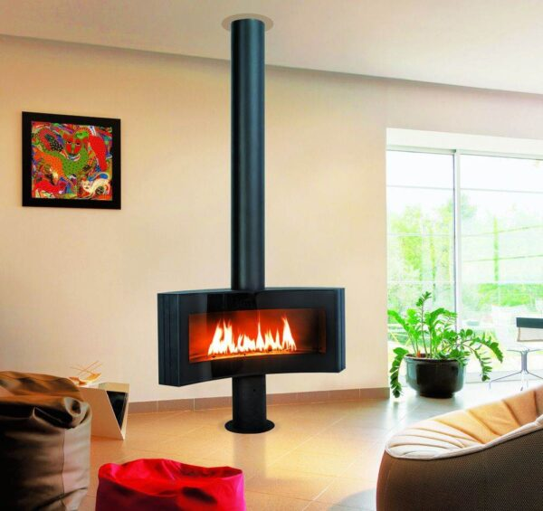 Curvifocus - The world's first concave gas fire, the Curvifocus offers an exceptional view of the flames and makes all eyes converge towards it. The simplicity of the shape of this fire belies its exceptional heat performance, making it eco-friendly and meeting European standards.