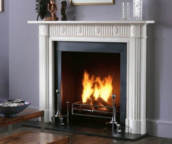 The Nash - The Nash is a new addition to the Chesney's Regency Collection. Carved in statuary marble this is a design that makes sparing use of refined ornamentation and architectural detail to create a chimneypiece of understated elegance that will suit most interiors.