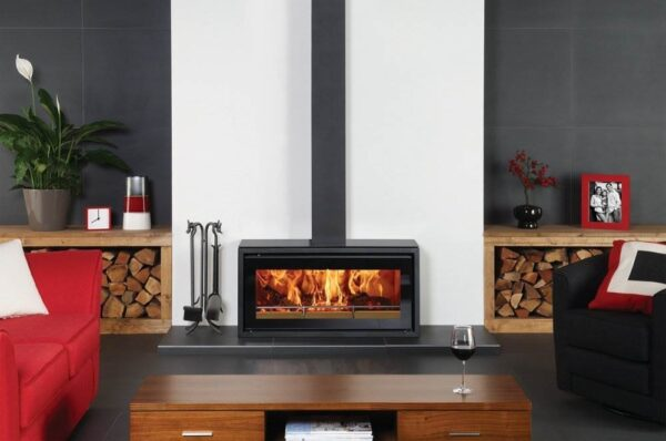 "Stovax Studio 2 Freestanding - This Freestanding stove version of the Stovax Studio 2 wood burning inset fire offers you up to 8kW of heating capacity as well as superb views of the flames. Featuring exactly the same firebox attributes as other <a title=""Studio Freestanding stove"" href=""https://www.stovax.com/stove-fire/riva-studio-freestanding/"">Studios</a>, the Studio 2 Freestanding wood burning stove may be mounted on a hearth or installed onto your choice of six optional <a title=""Studio Freestanding Benches "" href=""https://www.stovax.com/stove-fire/riva-studio-freestanding/riva-studio-freestanding-benches/"">Freestanding Benches</a>.