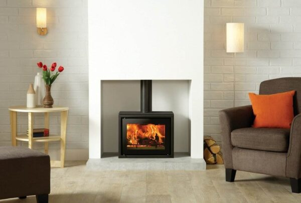 """Stovax Studio 500 Freestanding - The Stovax Studio 500 is a new addition to Stovax?s range of?<a title=""""Studio Freestanding stoves"""" href=""""https://www.stovax.com/stove-fire/riva-studio-freestanding/"""">Studio Freestanding stoves</a>, further extending and complementing the already impressive choice of Studio fires available. This high performing wood burning stove has a compact, yet innovative design, broadening the Studio?s versatility and suitability to a variety of homes. With a heat output to match that of the?<a title=""""Studio Freestanding stove"""" href=""""https://www.stovax.com/stove-fire/riva-studio-freestanding/riva-studio-1-freestanding/"""">Studio 1 Freestanding stove</a>, the Studio 500 Freestanding stove will provide ambiance and warmth to a cosy inglenook. It can also be teamed with a number of optional extras including the black glass top plate for a sleek and shining finish. The Studio 500 can also be placed on one of Stovax?s?<a title=""""Studio Freestanding Benches"""" href=""""https://www.stovax.com/stove-fire/riva-studio-freestanding/riva-studio-freestanding-benches/"""">Freestanding Benches</a>?to create a real style statement."""