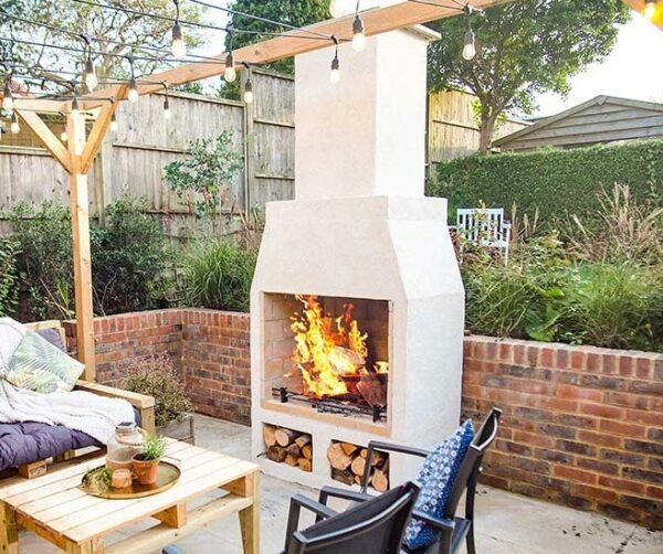 schiedel isokern 950 garden fireplace under fire
