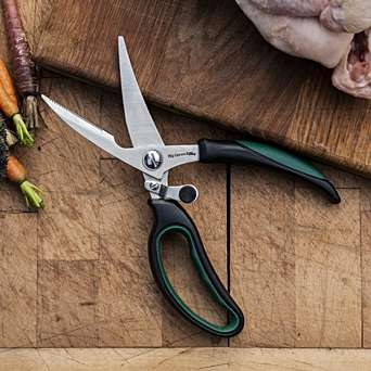 Kitchen Shears - These ergonomic stainless steel shears make trimming poultry, snipping herbs, or cutting pizza a breeze.