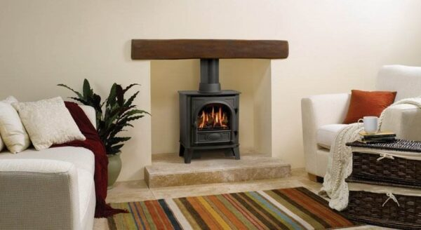 """Gazco Stockton 5 Gas - With authentic wood burning stove styling, right down to the hinged door with handle, the Gazco Stockton 5 gas stove is conveniently sized between the?<a title=""""Stockton 5 Gas Stoves"""" href=""""https://www.stovax.com/stove-fire/stockton-gas-stoves/stockton-gas-stoves-small-medium/"""">Small and Medium Stockton gas stoves</a>. So you have even more opportunity to suit your needs ? and to enjoy all the enchantment of a real coal or log-effect gas stove."""