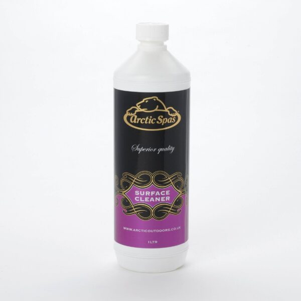 Arctic Surface Cleaner 1ltr - Arctic Spa Surface Cleaner is a highly effective liquid cleaner used to remove oils and greases around the spa waterline. It should also be used to clean the whole spa surface every time the spa is drained and re-filled.