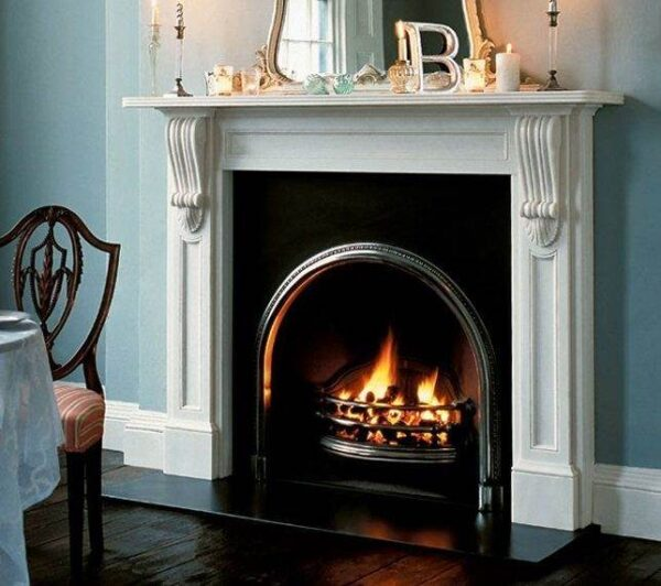 The Buckingham - The Buckingham has carved corbels which support the reeded mantel shelf.