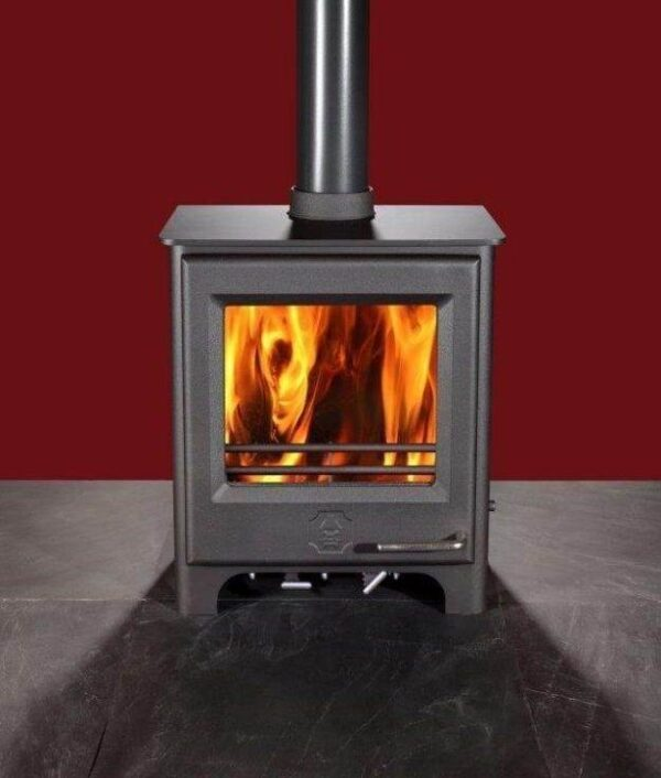 Woodwarm Phoenix Firegem ECO - The Phoenix Firegem is a slender version of the Fireblaze. It is an ideal stove to fit in shallow fireplaces for less protrusion into the room. The Firegem is also approved for smoke controlled areas and runs on a 127mm flue.